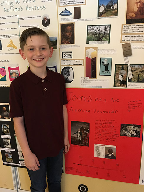 Orange County Public Schools 4th Graders Participate in Virginia History Poster Activity