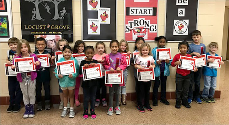 Cardinals of the Week from Locust Grove Primary School