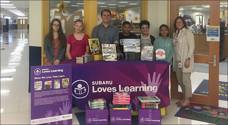 Reynolds GM Subaru of Orange Donates Books to Prospect Heights Library