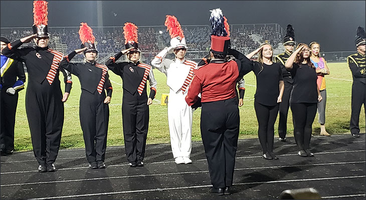 Orange County High School Band Excels at Band Competition