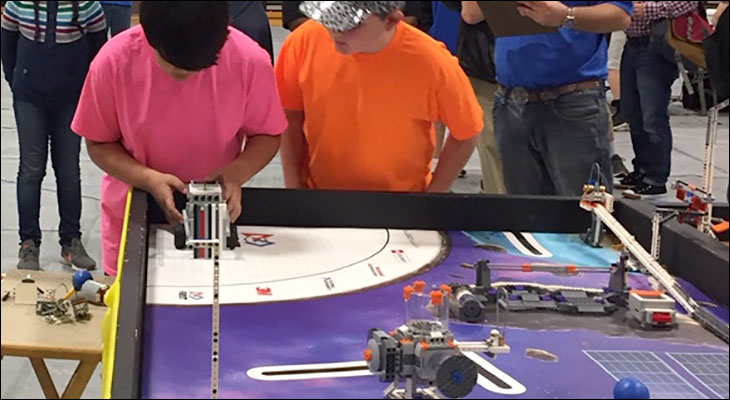 Orange Elementary Students Compete in First Lego League Robotics Tournament