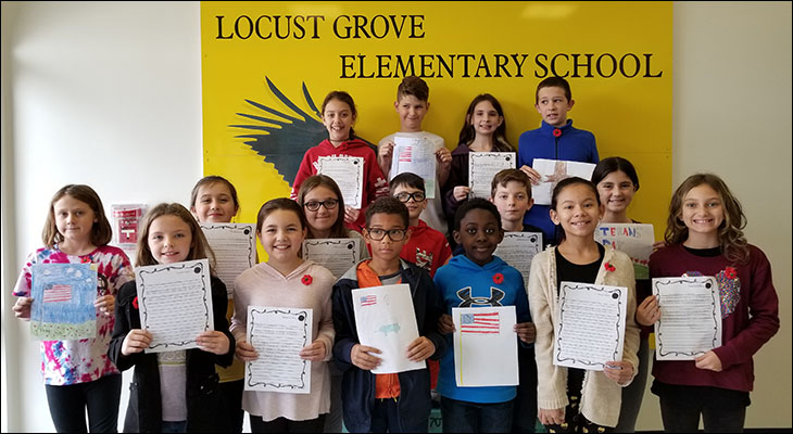 Locust Grove Elementary Students Honor Veterans Day