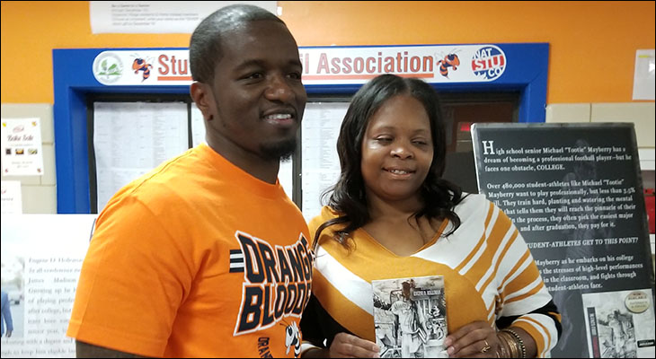 Orange County High School Library and Athletic Department Collaborate on Reading Project