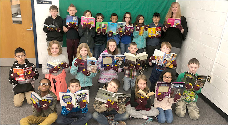 Mrs. Shipes' Class Claims Redskins Read Trophy Again at LES