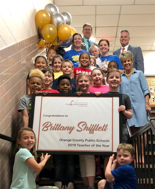 Brittany Shifflett Named OCPS Teacher of the Year for 2019