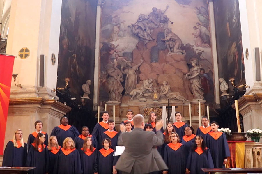 OCHS Singers perform at Chiesa di San Moisè, Venice, Italy