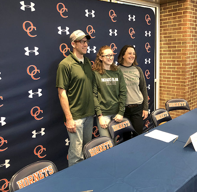 Alyson Kinkopf signed to play soccer at Richard Bland College in Petersburg.