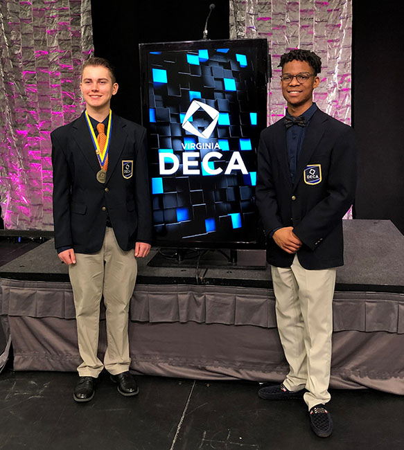 Orange County High School also had 2 students (first ever) elected onto the Virginia State Officer Action team: Michael Wandel as the VP of Career Development and O'Brian Martin as the VP of Marketing.