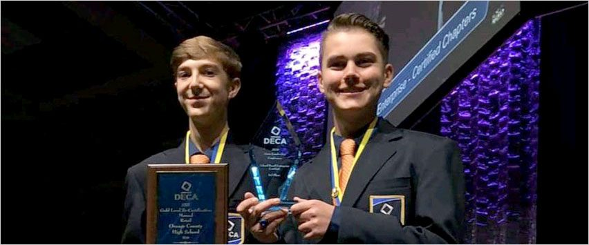 Orange County High School Students Honored at DECA State Conference