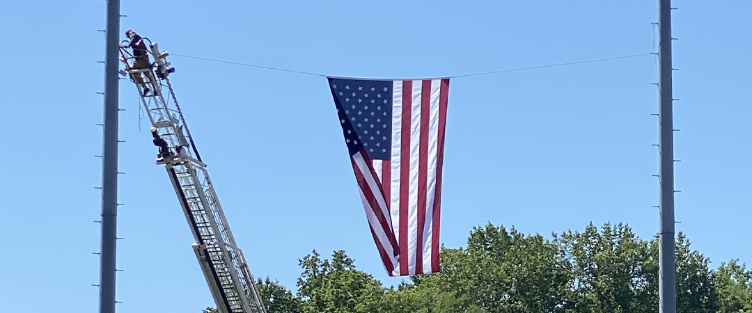 Special Backdrop provided by Orange Volunteer Fire Company for 2021 Graduation