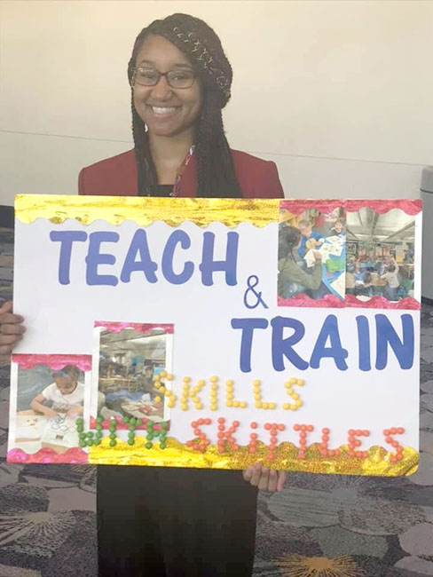 Beyoncé Malson received SILVER in her Teach and Train Competition