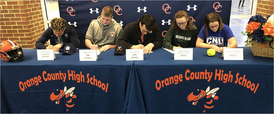 Orange County High School Student Athletes Sign National Letters of Intent