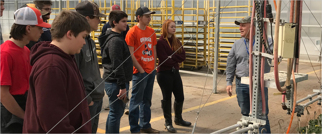 OCHS Agriculture Students Visit American Color Greenhouses