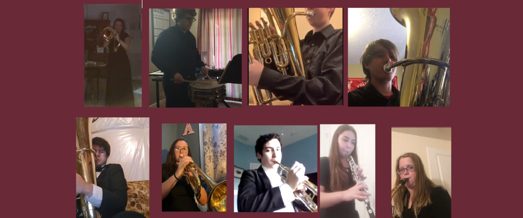 """Band Students playing """"March"""" by Gordon Jacob"""
