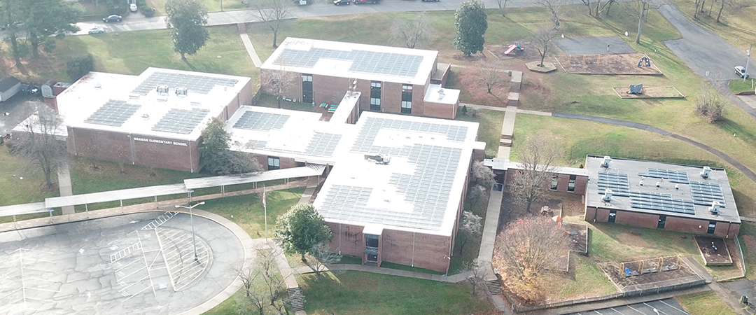 OES solar panels installed on roof.