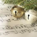 Holiday bells and sheet music announce the Winter Concert