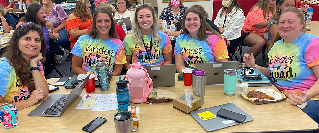 New teachers are welcomed at LGP with 5 LGP teachers pictured.